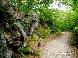 Фрагмент Горизонтальной Тропы, Ливадия, Крым